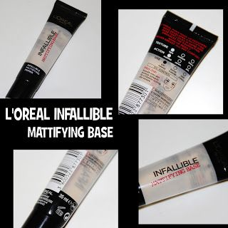MichelaIsMyName: L'OREAL INFALLIBLE Mattifying Base REVIEW