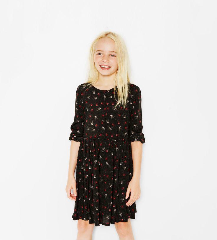 Kleid mit Sternenprint
