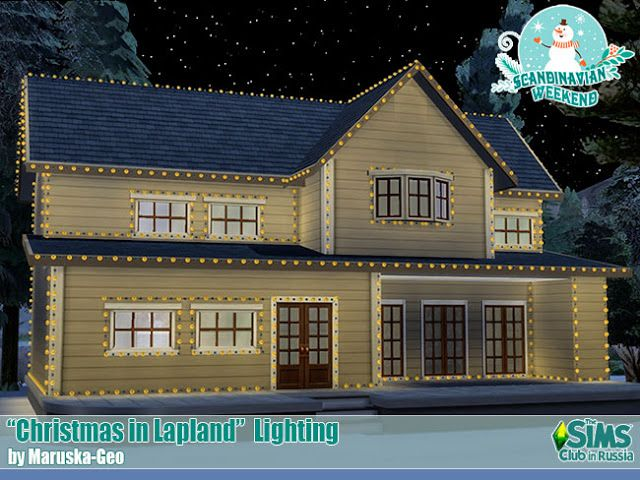 Sims 4 CC's The Best Christmas in Lapland Lighting by