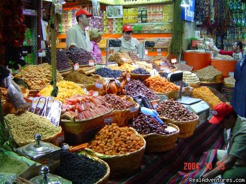 Foods at a market in Turkey