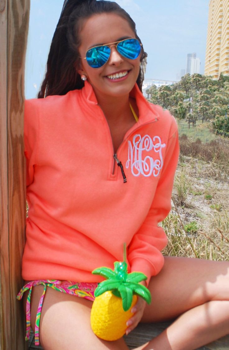 A personal favorite from my Etsy shop https://www.etsy.com/listing/290817319/preppy-monogrammed-quarter-zip-pullover
