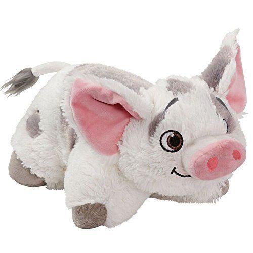 """Moana Disney Movie Pua Stuffed Animal Soft Plush Toy Comfy 16"""" Pillow Pets Toys #PillowPetsCollectionMoana"""