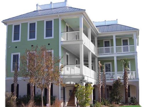 Porches Crows Nest View Beach House Marsh Low Country