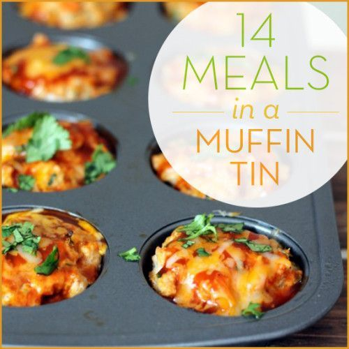 These 14 muffin tin meals are an easy way to create unique and fun dishes that are perfect for just one or a big group. Perfect for kids too!