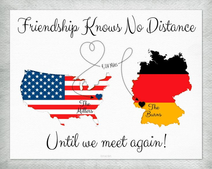 US and Germany Maps for Friends, Moving Away Gift for Friends, Military Friends Personalized Gift Print, Customize With Any Two Countries