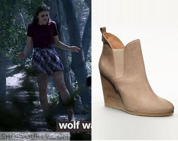 Teen Wolf: Season 3 Episode 14 Lydia's Brown Wedge Ankle Boots - ShopYourTv