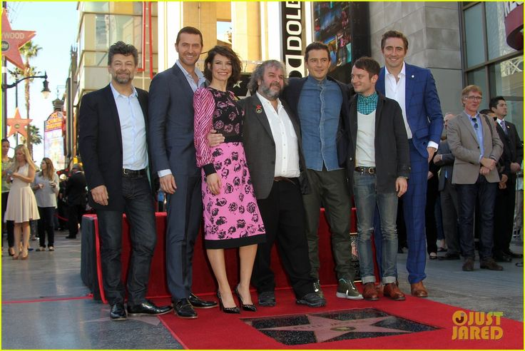 Andy Serkis, Richard Armitage,  Evangelina Lilly, Orlando Bloom, Elijah Wood and Lee Pace  Support 'Hobbit' Director Peter Jackson For His Big Moment!