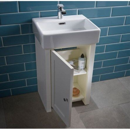 Tavistock Lansdown 400mm Cloakroom Vanity Unit & Basin - Linen White  Increase your bathroom storage space with style with this classic vanity unit from tavistock.  Available now at http://www.tapwarehouse.com/product/lansdown-vanity-400-white