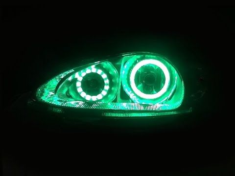 2001 to 2005 Chrysler PT Cruiser Color Changing LED HALO Headlights - YouTube