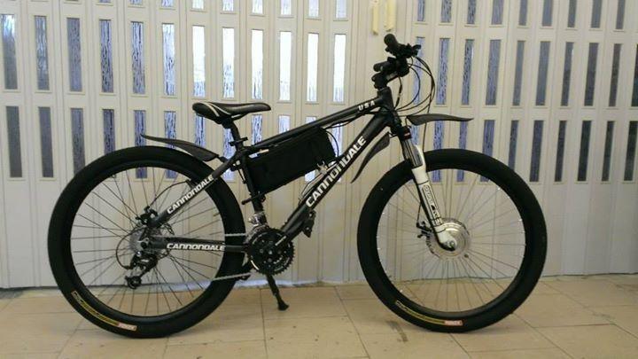 Cannondale conversion ebike - front hub bafang 8fun + lifepo 36v 12ah