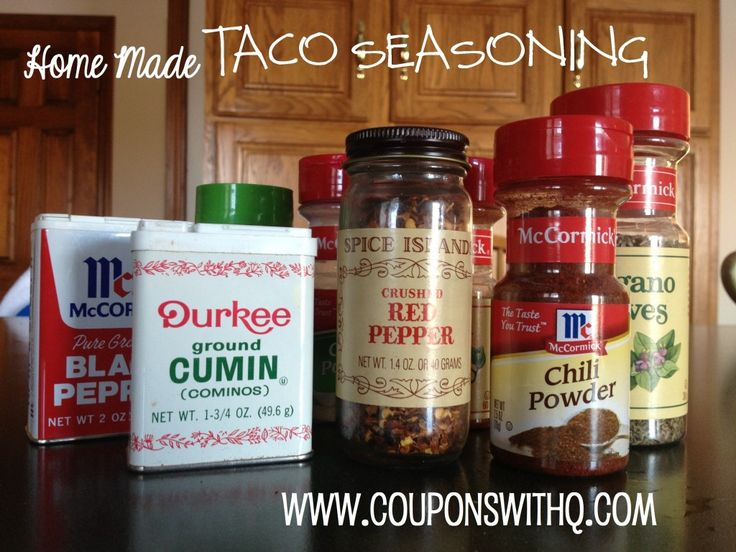 home made taco seasoning that's not full of preservatives & junk. easy and #frugal!! www.couponswithq.com