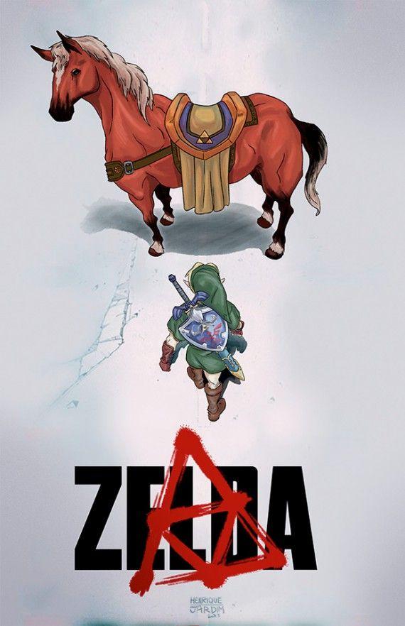 Parodie affiche Akira - Zelda
