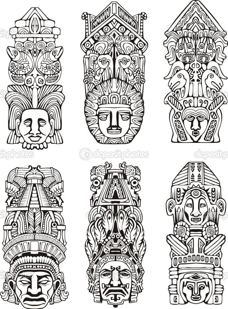 mayan totem pole - Поиск в Google                                                                                                                                                                                 More