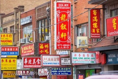 Picture of Chinatown Street Signs In Toronto
