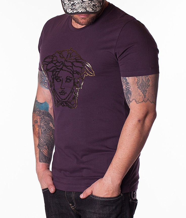 Versace Tricouri Cu Guler Rotund - Tricou Logo violet