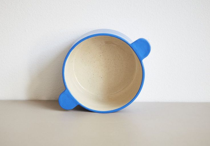 """HAND-THROWN, HAND-GLAZED stoneware BowlMADE IN THE BROOKLYN STUDIO OF WORKADAY HANDMADE. Matte blue glaze with a glossy clear interior. Oven and dishwasher safe. DUE TO THE HANDMADE NATURE, SUBTLE VARIATIONS IN FORM AND FINISH ARE TO BE EXPECTED. Size: Approximately 4""""diameter x 3""""h"""