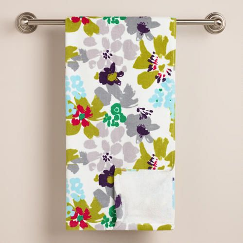 One Of My Favorite Discoveries At WorldMarket Watercolor Daisies Bath Towel