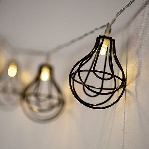 Wire Cage Lights are perfect for decorating your outdoor wedding with