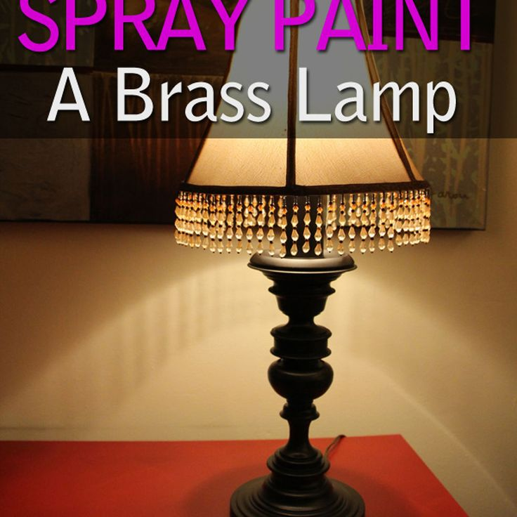 to spray paint a brass lamp how to paint a brass lamp painting brass. Black Bedroom Furniture Sets. Home Design Ideas