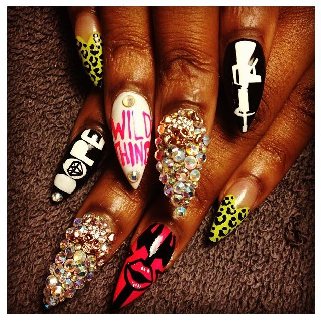 These Nails Are Murda! = dope nail design ideas= nail swag obsession= nail porn