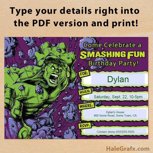 326 best Superhero Birthday images – Free Printable Superhero Birthday Party Invitations
