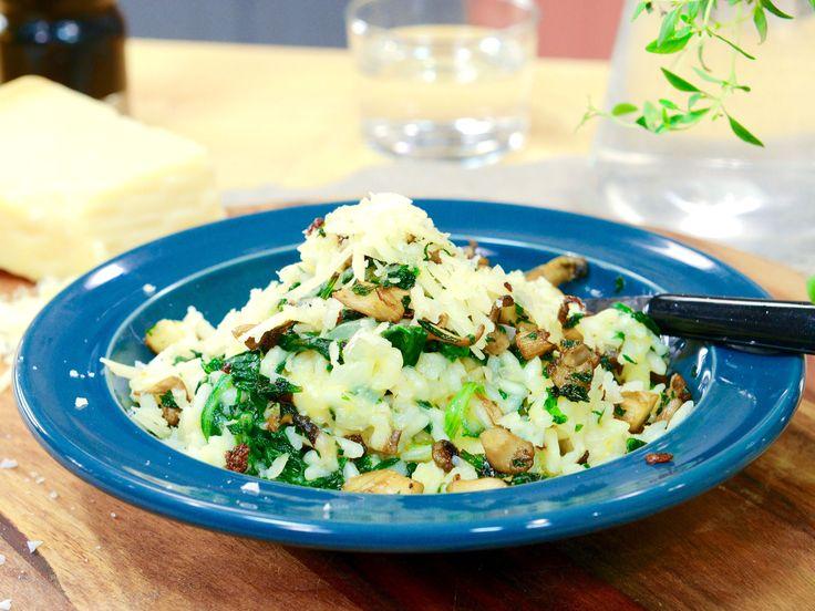 Krämigt ris med knaperstekt ostronskivling och parmesan | Recept.nu