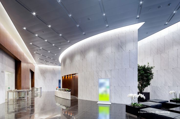 PRIME, Armstrong, sufity podwieszane, sufit akustyczny, ceiling, acoustic, metal, reception