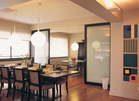 Puertas corredizas para separar cocina de comedor buscar for Como hacer una puerta de madera