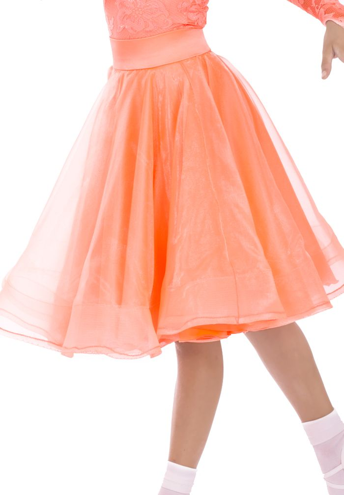 DSI Zeta Juvenile Ballroom Skirt 1083J | Dancesport Fashion @ DanceShopper.com