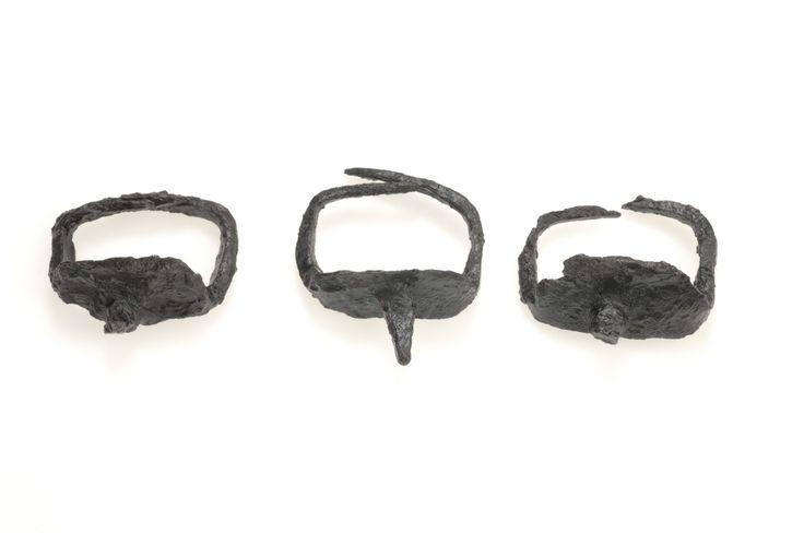 Viking iron ice spikes for horses. Found in a warriors grave at Björkö, Sweden.