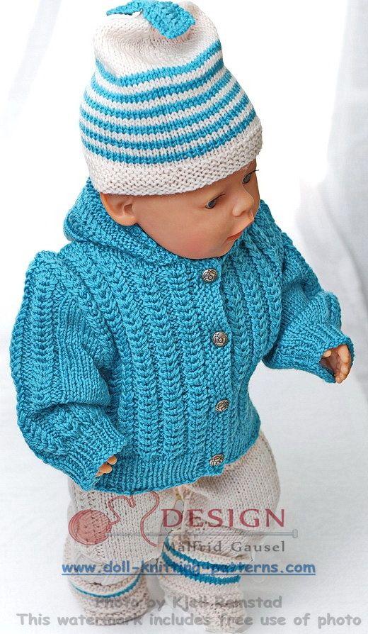 tricot pour poupée Plus