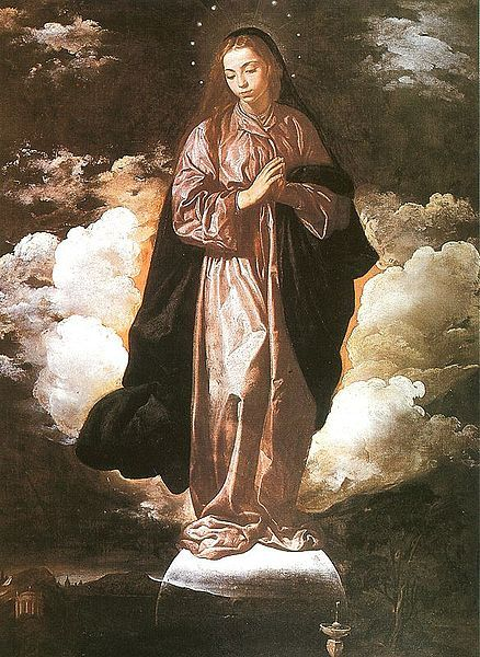 The Immaculate Conception by Diego Velazquez  Date: 1619