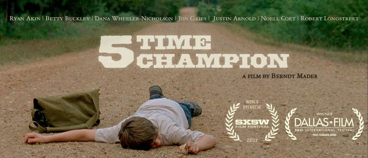 ftc still   Five Time Champion was filmed in and around the Smithville TX area.  Debut film of Berndt Mader, and he was wonderful to work with.  The Smithville Film Commission would welcome him and his award-winning ways back any time.
