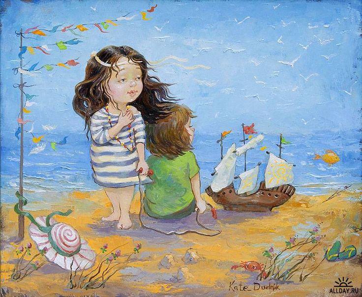 Милые картины художницы Екатерины Дудник . Обсуждение на Liv…