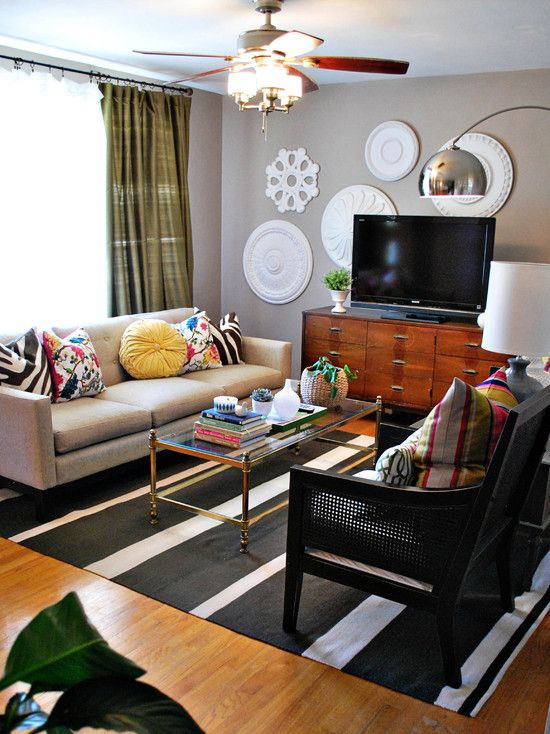 Eclectic Living Room Mobile Home
