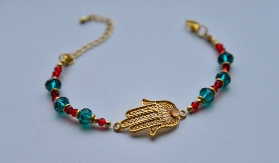 Hey, I found this really awesome Etsy listing at https://www.etsy.com/listing/187729485/bracelet-with-hamsa-hand-of-fatima