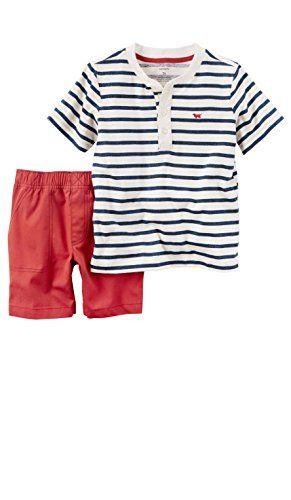 113c4457b2e57 Carter's Toddler Boy's 2 Piece Polo Shirt and Shorts Set ... | baby ...
