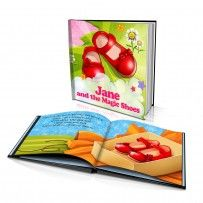 "Personalised Hard Cover Story Book: ""The Magic Shoes"" / Dinkleboo"