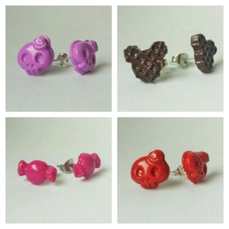 https://de.dawanda.com/product/113212675-ohrstecker-mickey-mouse-cookies    https://de.dawanda.com/product/113212371-ohrstecker-totenkopf-rosa-lavendel-aus-fimo