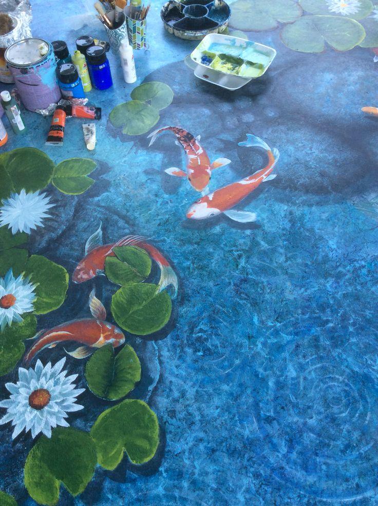 1000 ideas about koi painting on pinterest koi art for Koi fish pond art