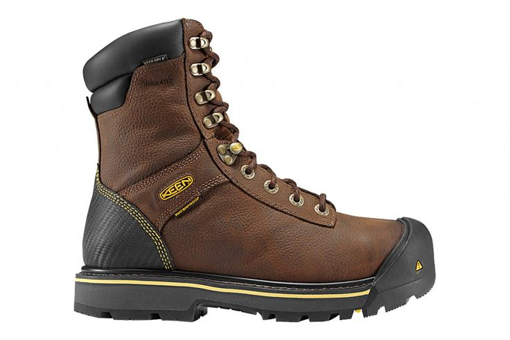 """Experience all-day comfort with KEEN's Wenatchee Insulated work boot, constructed to offer toughness and long life."" #workboots #boots #steeltoe equipmentworld.com"