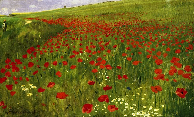 Pál Szinyei Merse - Poppies in the Field (1896)