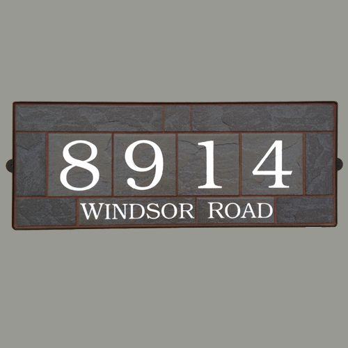 House Numbers – Black Pizarra 8914