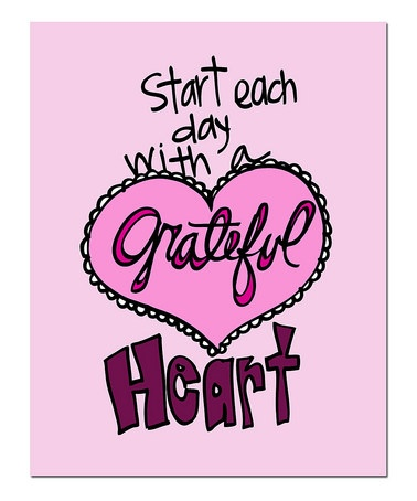 Take a look at this 'Grateful Heart' Print by Doodle Art Prints by Doodli-Do's on #zulily today!