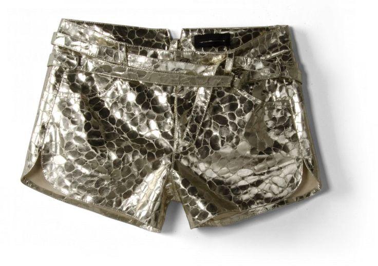 Luxusní kožené šortky Diesel Black Gold