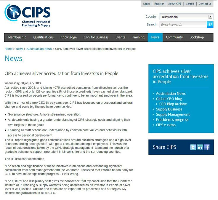 CIPS achieves silver accreditation from Investors in People