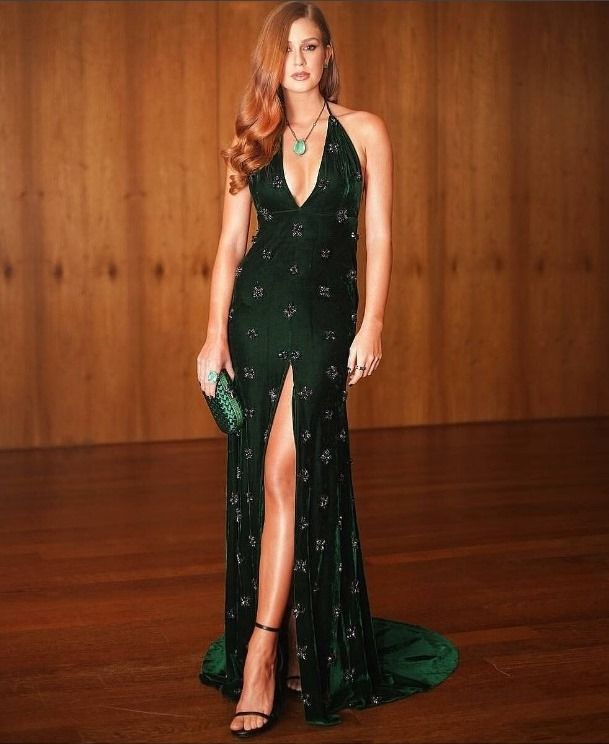 Marina ruy barbosa vestido verde amfar