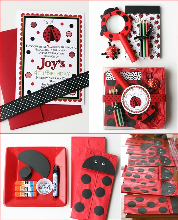 cute ladybug party extras