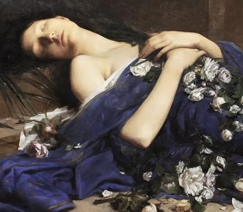 Detail from Martyr in the Catacombs by Jules Cyrille Cavé (1859 - 1949)