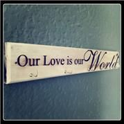 Love is our World Key Holder